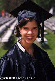 Outdoor portrait of female graduate